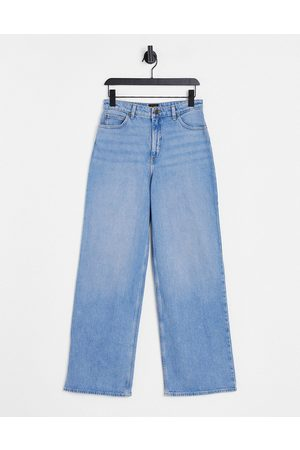 Lee Lee Stella high rise A line straight leg jeans in light wash blue