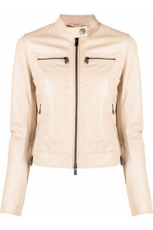 Pinko Damen Lederjacken - Zip-detail biker jacket