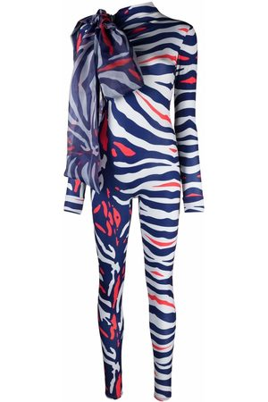 Atu Body Couture Damen Jumpsuits - Animal-print bow-detail jumpsuit