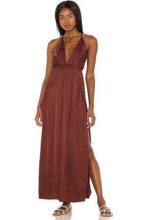 Indah River Maxi Dress in - Wine. Size M/L (also in S/M, XS/S).
