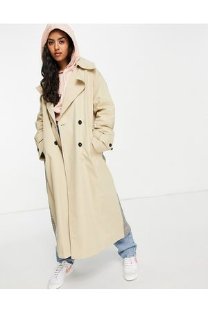 ASOS Damen Trenchcoats - Check spliced trench coat-Multi