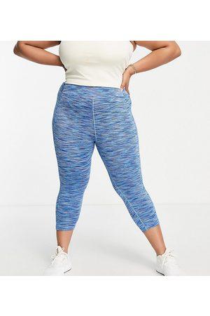 ASOS Curve space dye capri legging-Blue