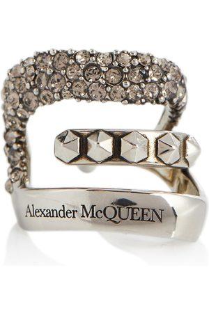Alexander McQueen Einzelner Ear Cuff mit Kristallen