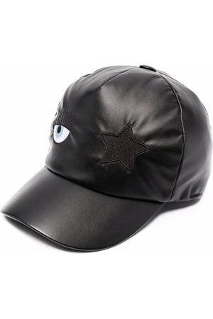 Chiara Ferragni Mädchen Caps - Eye-patch faux leather baseball cap