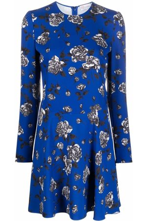 RED Valentino Floral-print long-sleeve dress