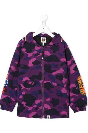 A Bathing Ape Jungen Sommerjacken - Camouflage print hooded jacket