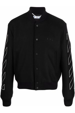 OFF-WHITE Herren Sommerjacken - Diagonal stripe varsity bomber jacket