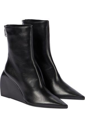 OFF-WHITE Ankle Boots Dolls Wedge aus Leder