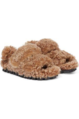 Miu Miu Damen Sandalen - Sandalen aus Shearling
