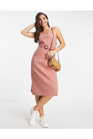Brave Soul Damen Sommerkleider - Dahlia striped summer cami dress in pink