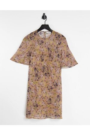 & OTHER STORIES Ditsy floral print mini dress in yellow