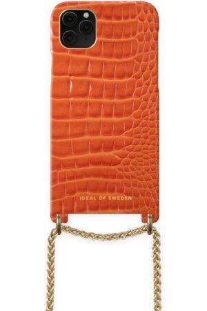 Ideal of sweden Damen Handy - Lilou Necklace Case Orange Croco iPhone 11 Pro Max