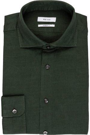 Reiss Herren Business - Leinenhemd Ruban Regular Fit gruen
