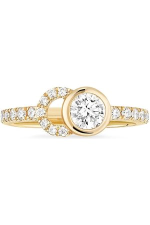 COURBET Damen Ringe - 18kt yellow CO half-pavé laboratory-grown diamond set ring