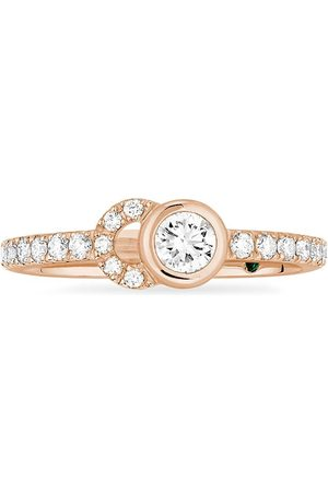 COURBET Damen Ringe - 18kt recycled rose gold CO half-pavé laboratory-grown diamond set ring