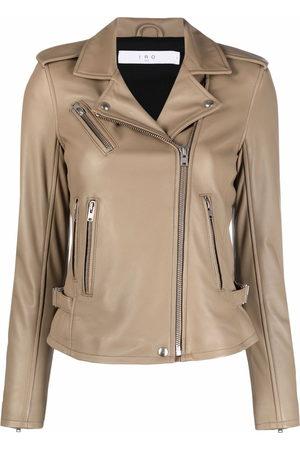 IRO Damen Lederjacken - Leather fitted biker jacket