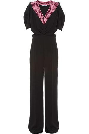 Prada Damen Jumpsuits - Jacquard detail jumpsuit