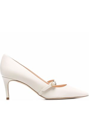 DEE OCLEPPO Buckle-strap pointed leather pumps