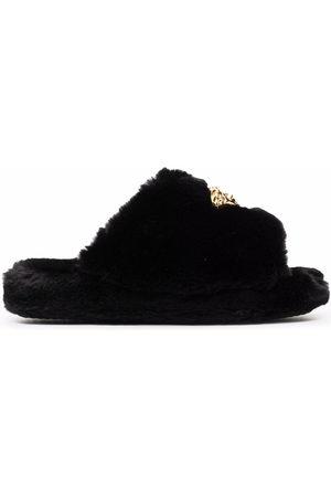 VERSACE Halbschuhe - Medusa-plaque open-toe slippers