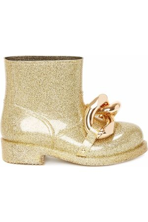 J.W.Anderson Chain-link glitter ankle boots