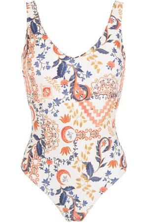 Lygia & Nanny Damen Badeanzüge - Floral-print V-neck swimsuit