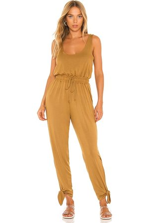 Lovers + Friends Milerton Jumpsuit in - Brown. Size L (also in XS, S, M).