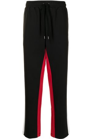 Ports V Jogginghosen - Side-stripe straight trousers