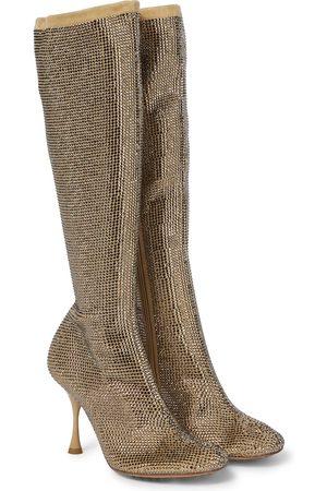 Bottega Veneta Damen Stiefel - Stiefel Sparkle Dot aus Veloursleder