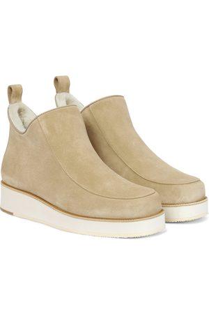 GABRIELA HEARST Damen Stiefeletten - Ankle Boots Harry aus Veloursleder