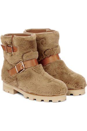 Jimmy Choo Damen Stiefeletten - Ankle Boots Youth II aus Faux Fur