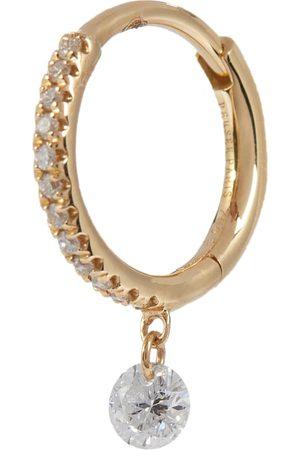 PERSÉE Damen Ohrringe - Einzelner Ohrring Mini aus 18kt Gelbgold mit Diamanten