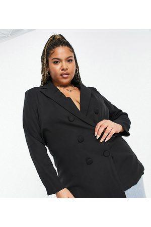 Koco & K Longline blazer in black