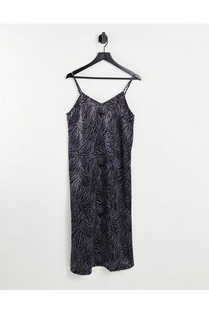 VILA Cami midi dress in animal print-Multi