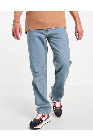 ASOS Straight leg jeans in tinted light wash blue