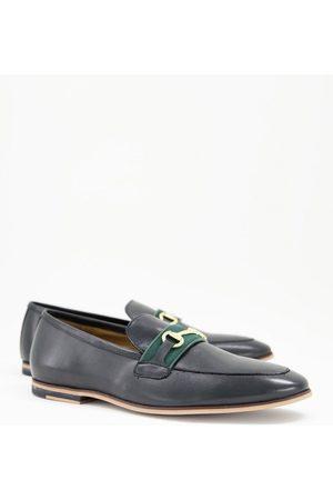 WALK LONDON Bar Raphael loafers in black hi shine leather