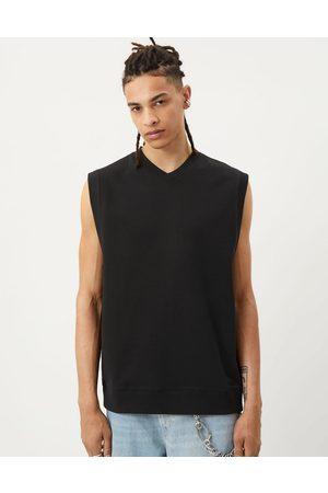 Weekday Karl jersey vest in black