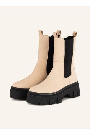 Mrs & HUGS Damen Stiefeletten - Chelsea-Boots beige