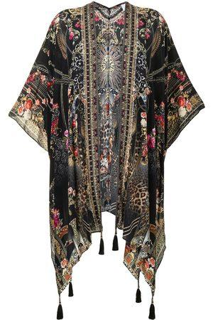 Camilla Square Draped Layer Gothic Goddess silk cape
