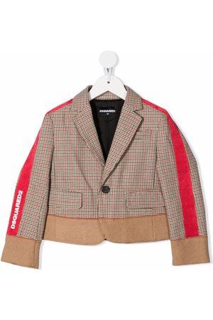 Dsquared2 Side-stripe print jacket