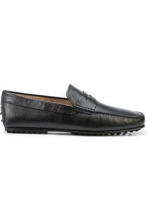 Tod's Grained leather penny loafers