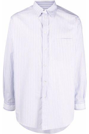 Maison Margiela Pinstripe-pattern long-sleeve shirt