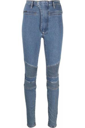 Philipp Plein Iconic high waist biker jeans