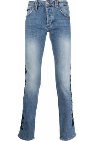 Philipp Plein Logo-print straight-cut jeans