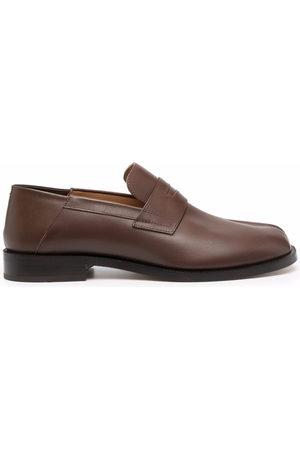 Maison Margiela Tabi-toe polished-finish loafers