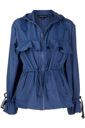 Marchesa Notte Zip-fastening hooded jacket