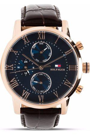 Tommy Hilfiger Herren Uhren - Leather strap multifunction 44mm