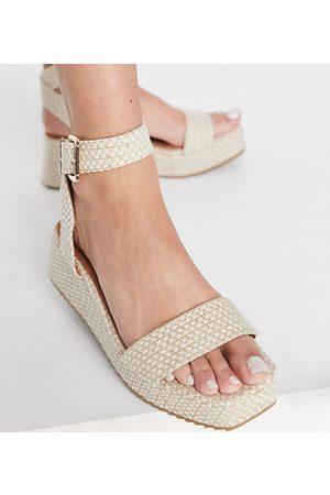 ASOS Damen Sandalen - Tatiana flatform sandals in natural-Neutral