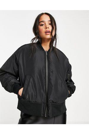 Noisy May Bomber jacket in black