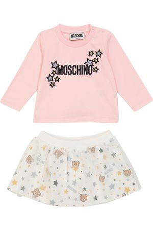 Moschino Baby Besticktes Set aus Top und Rock