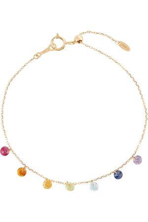 PERSÉE Armband 7 Chakras aus 18kt Gelbgold mit Amethysten, Türkisen, Rubinen, Zitrinen, Peridots und Saphiren